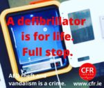 SUPPORT 'LIFESAVING EQUIPMENT BILL' TO STOP THEFT OR DAMAGE TO DEFIBRILLATORS